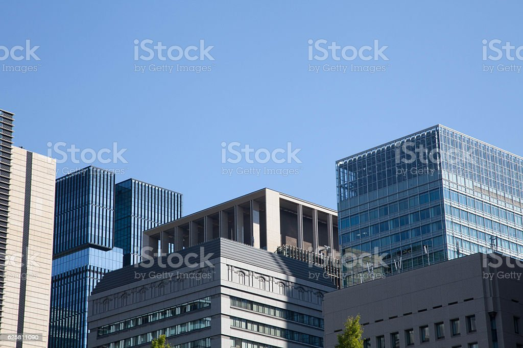 Skyscraper of business and financial district stock photo