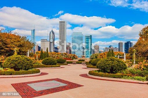 852738732istockphoto Skyscraper of Chicago Skyline and Grant Park,ILL 607871444