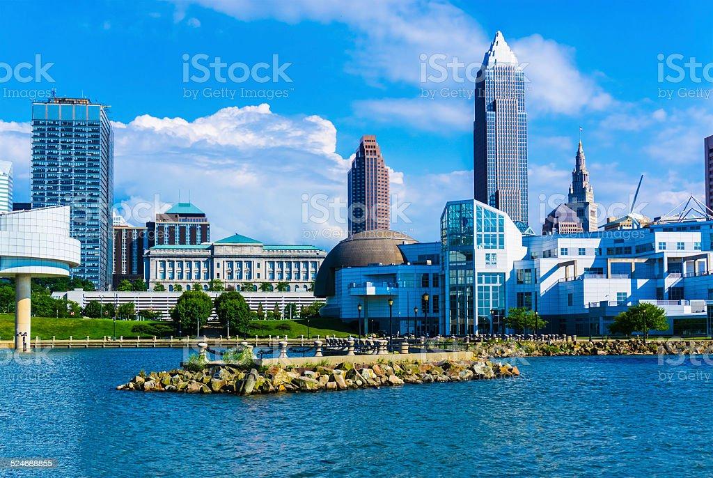 Skyscraper of Cleveland Ohio Skyline,Lake Erie(P) stock photo
