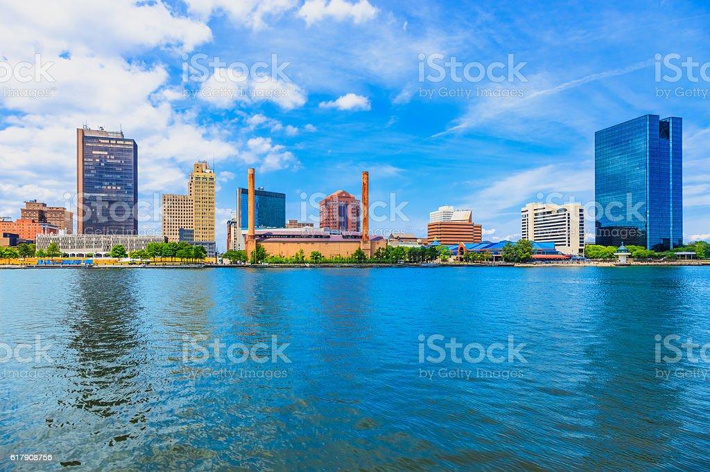 Skyscraper of downtown Toledo skyline, Ohio stock photo