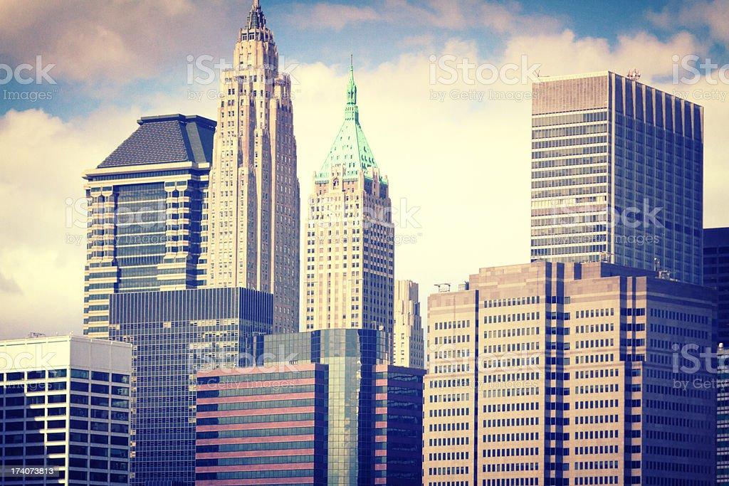 Skyscraper of New York City royalty-free stock photo