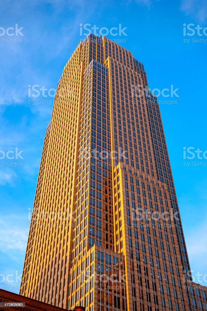 Skyscraper Office Building Downtown Cleveland Ohio USA stock photo