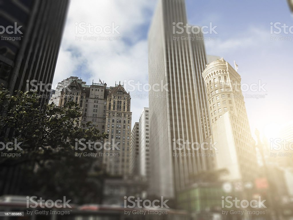 Skyscraper on market street - san francisco royalty-free stock photo