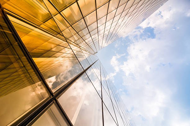 Skyscraper Skyscraper directly below stock pictures, royalty-free photos & images