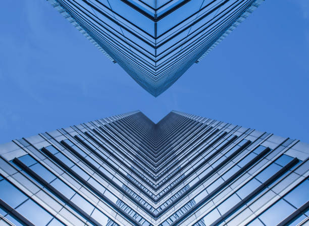 skyscraper - directly below stock pictures, royalty-free photos & images