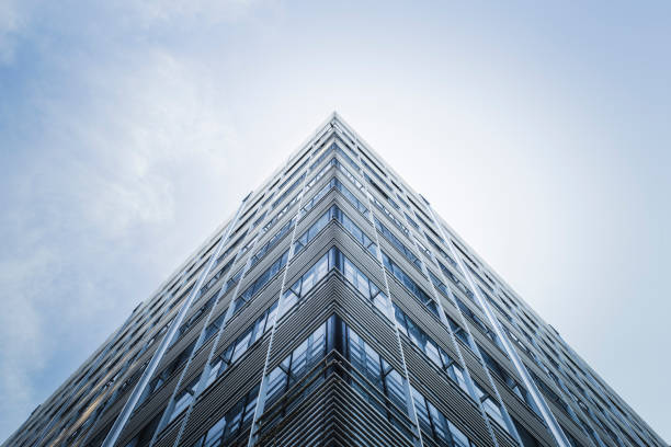 skyscraper - symmetry stock photos and pictures