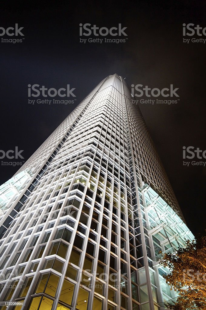 Skyscraper reaching out to sky royalty-free stock photo