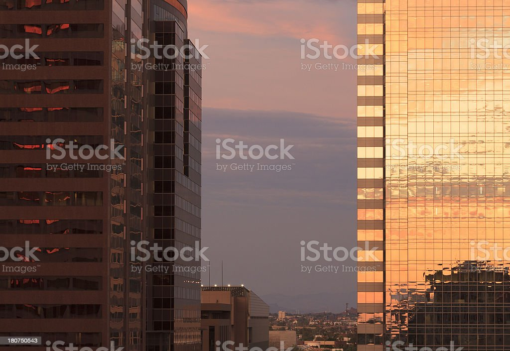 Skyscraper Sunset royalty-free stock photo
