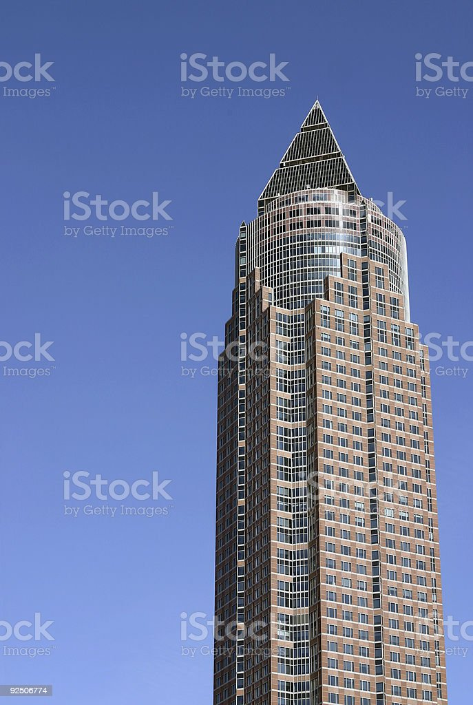 Skyscraper tower and blue sky royalty-free stock photo