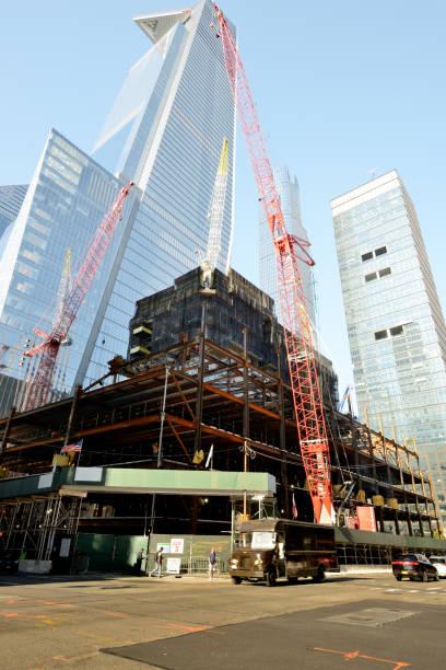 Wolkenkratzer im Bau, Hudson Yard, NYC. – Foto