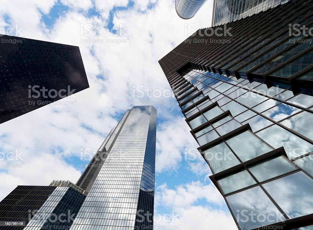 skyscraper with reflection royalty-free stock photo