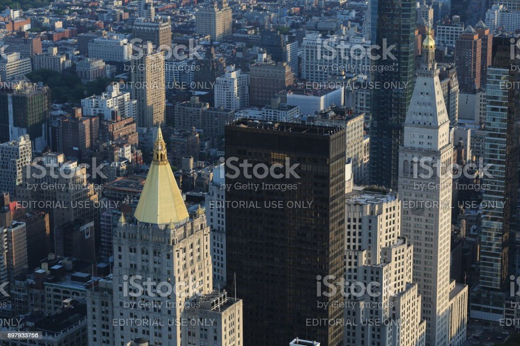 Skyscrapers. America, New York City - May 13, 2017 stock photo