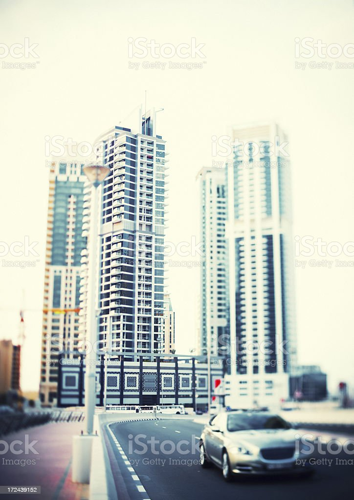 Skyscrapers and Car royalty-free stock photo