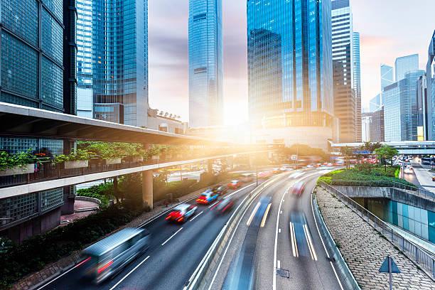 Hochhäusern und Straßen in Hong Kong – Foto