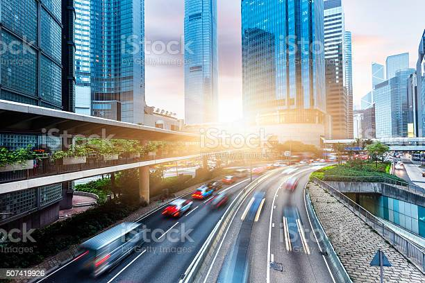 Photo of Skyscrapers and City Streets in Hong Kong