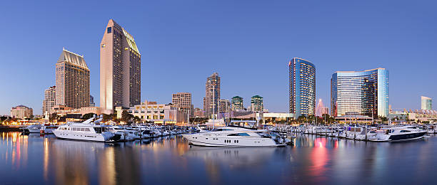 Skyscrapers and Marina - San Diego stock photo