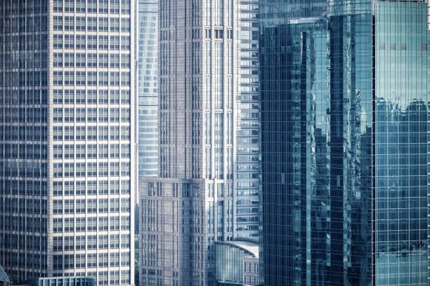 Wolkenkratzer und moderne Bürogebäude Hintergrund – Foto