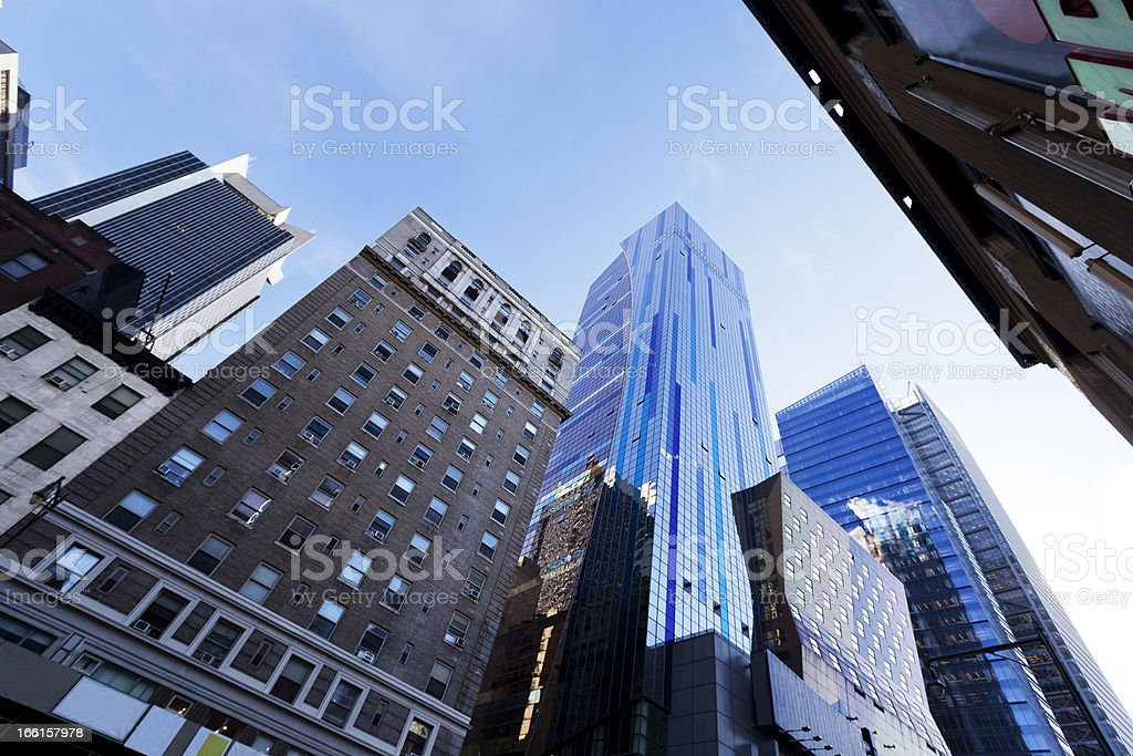 Skyscrapers and Sky Midtown Manhattan royalty-free stock photo