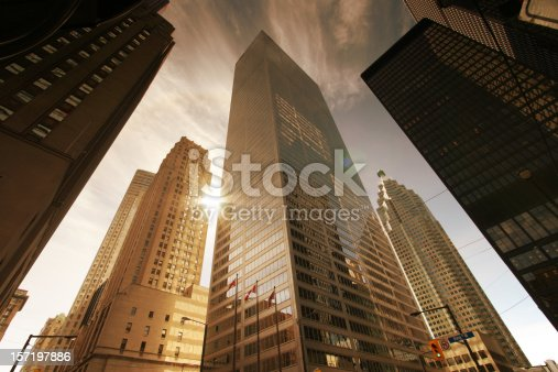 istock Skyscrapers and Sun 157197886