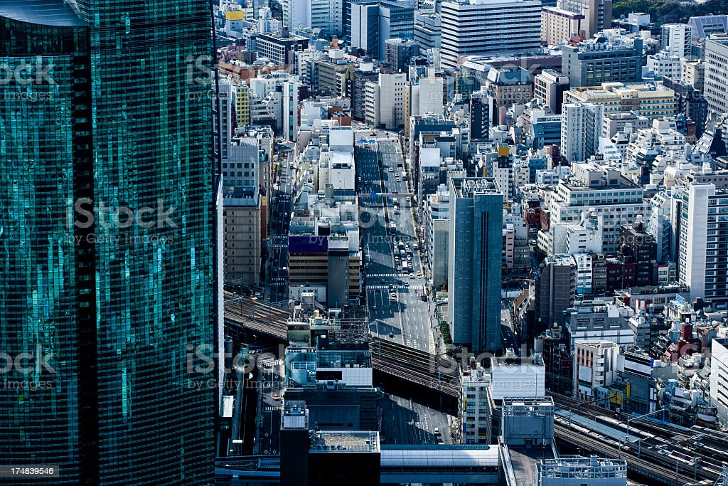 Skyscrapers and the bustle of Tokyo. royalty-free stock photo