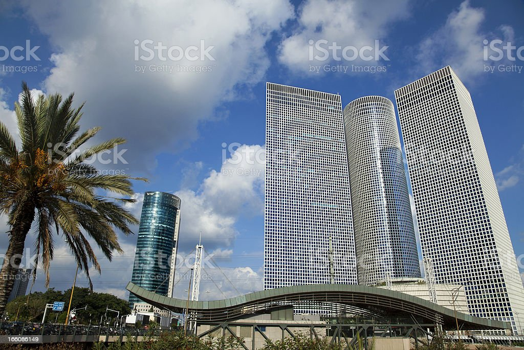 Skyscrapers and Train Station royalty-free stock photo