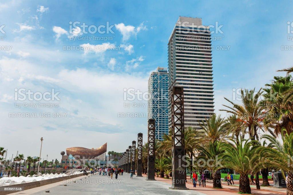 Skyscrapers around Barceloneta neighbourhoodб Ифксудщтфб Ызфшт stock photo
