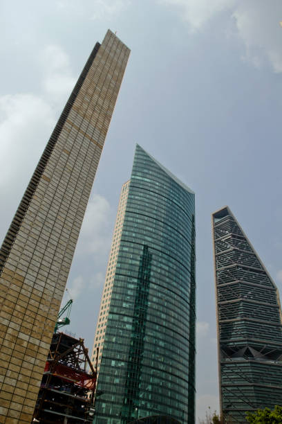 Skyscrapers at mexico city stock photo
