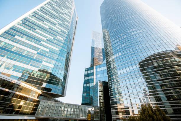 Wolkenkratzer im finanziellen Bezirk von Paris city – Foto