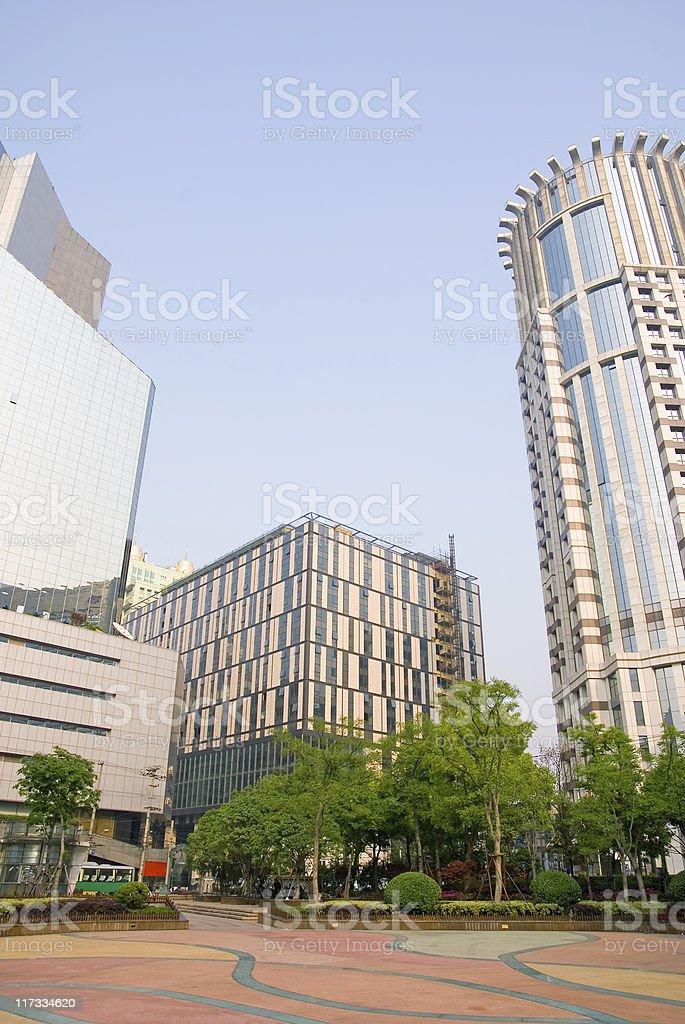 Skyscrapers at the Nanjing road royalty-free stock photo