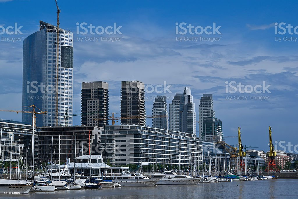 Skyscrapers at the Puerto Madero neighborhood, Buenos Aires, Argentina royalty-free stock photo