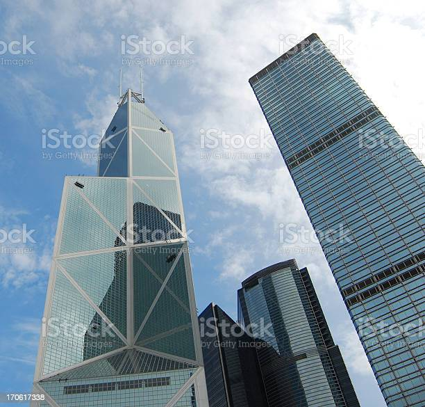 Hk Skyscrapers Bank Of China Stock Photo - Download Image Now