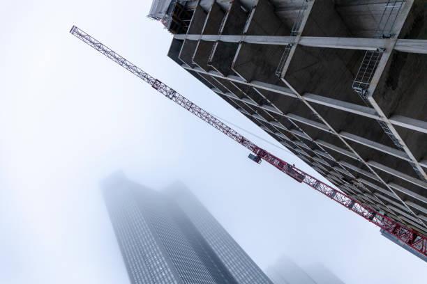 Baustelle Wolkenkratzer, Frankfurt Am Main, Deutschland – Foto