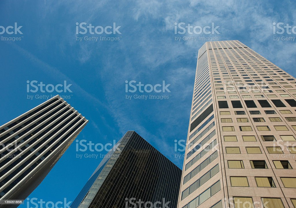 Skyscrapers, downtown Denver stock photo
