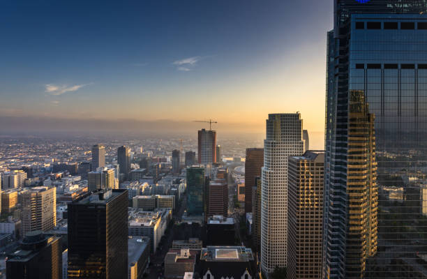 DTLA Skyscrapers - Dusk stock photo