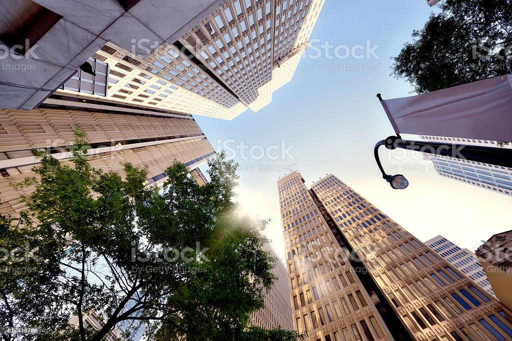 Skyscrapers from below, Atlanta stock photo