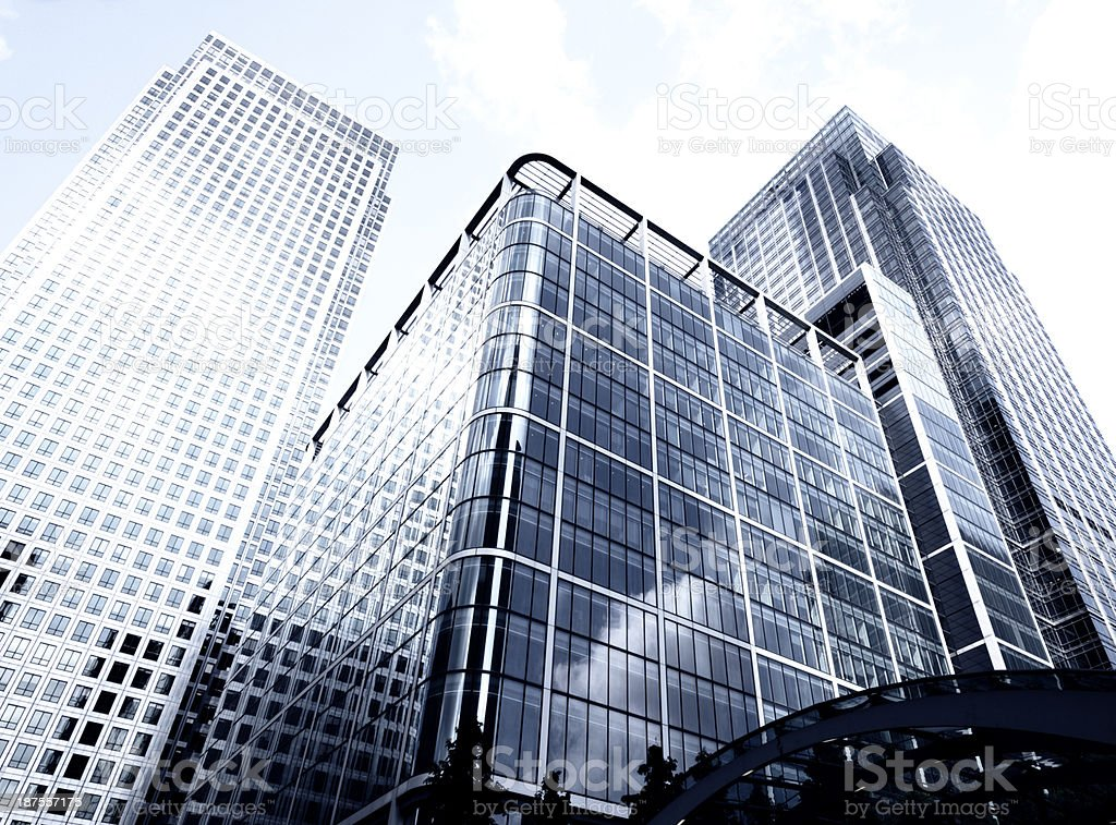 Skyscrapers from below, London - England royalty-free stock photo