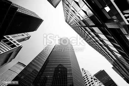 istock Skyscrapers from Below, Lower Manhattan. 1184661675