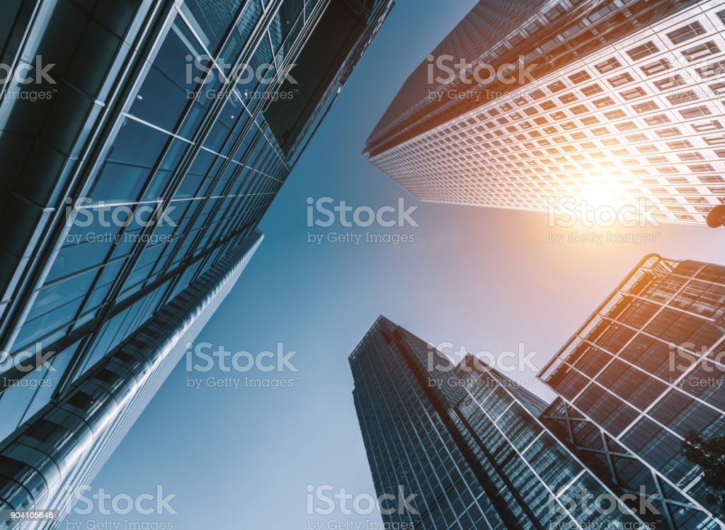 Wolkenkratzer in ein Bankenviertel - Lizenzfrei Architektur Stock-Foto