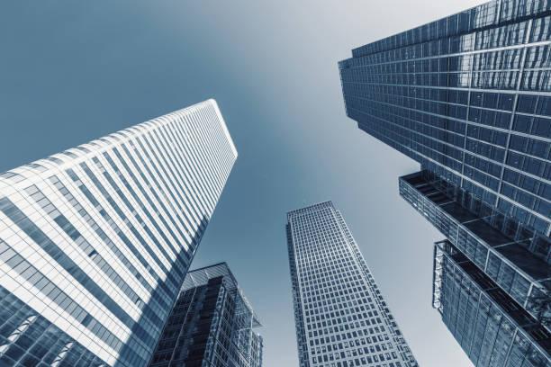 Wolkenkratzer in ein Bankenviertel – Foto