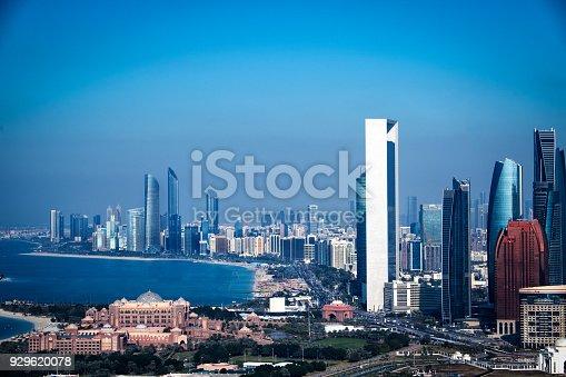 517465184 istock photo Skyscrapers in Abu Dhabi 929620078