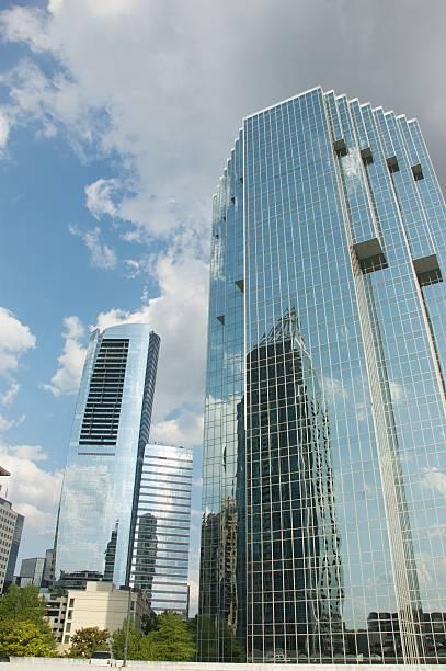 Skyscrapers in Buckhead, Atlanta stock photo