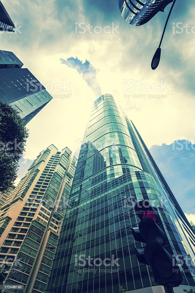 Skyscrapers in Business District of Kuala Lumpur, malaysia royalty-free stock photo