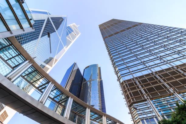 Rascacielos en Hong Kong central - foto de stock