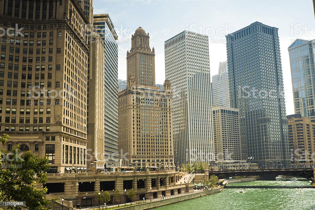 Skyscrapers in Chicago stock photo