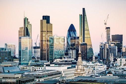 istock Skyscrapers in City of London 844050350