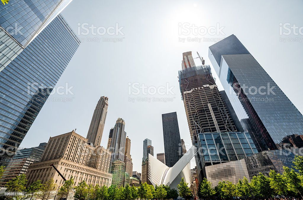 Skyscrapers in downtown New York City royalty-free stock photo