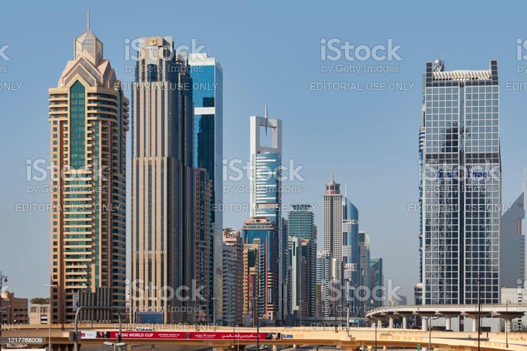 Skyscrapers in Dubai - Royalty-free Architecture Stock Photo