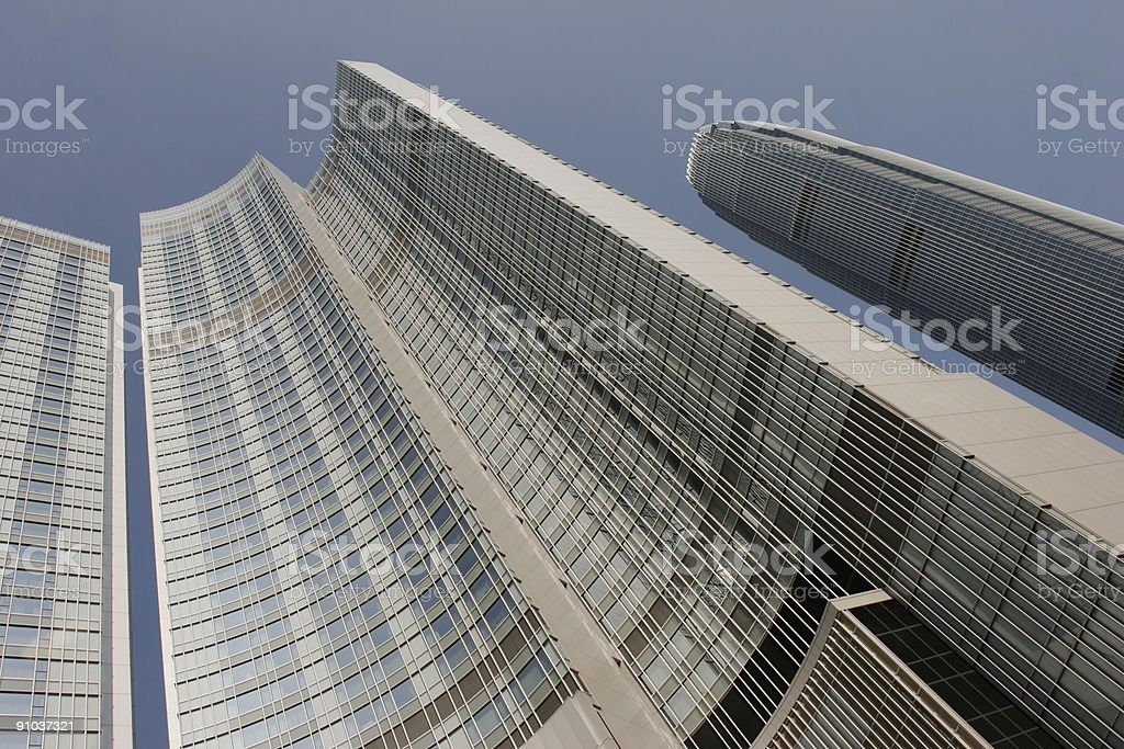 Skyscrapers in Hong Kong royalty-free stock photo