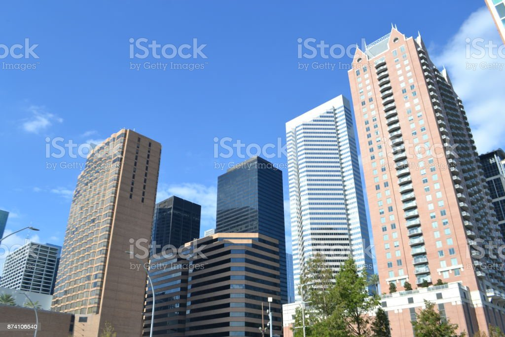 Skyscrapers in Houston, Texas stock photo