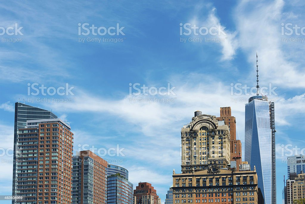 Skyscrapers in Lower Manhattan, New York royalty-free stock photo